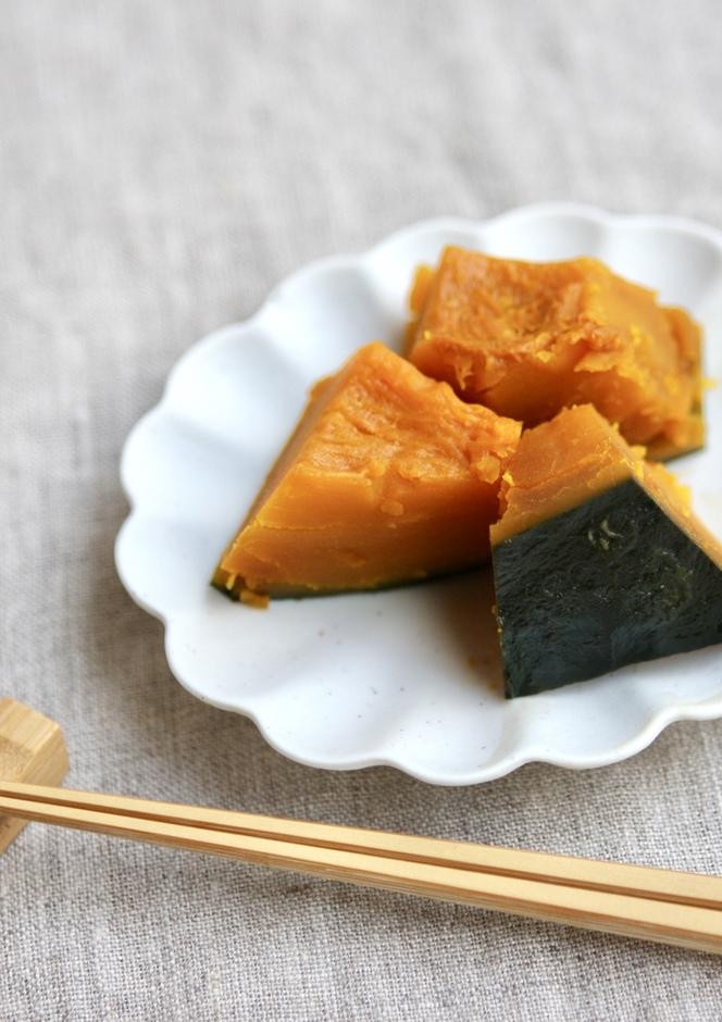 家の黄金比率で かぼちゃの煮物