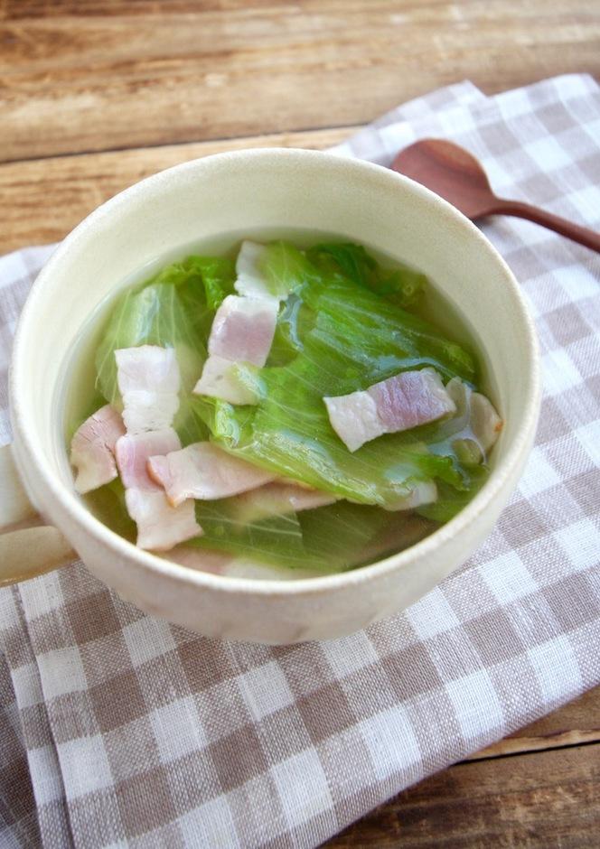 スピードレシピ レタススープ