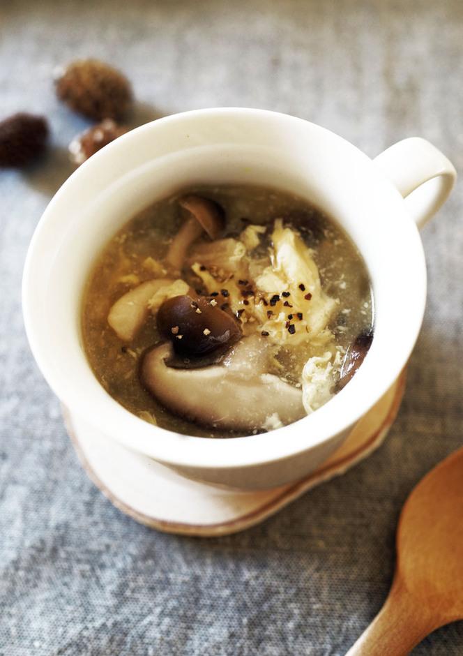 生姜ときのこのあったかスープ