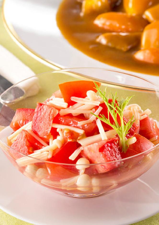 トマトとえのきのお浸しサラダ