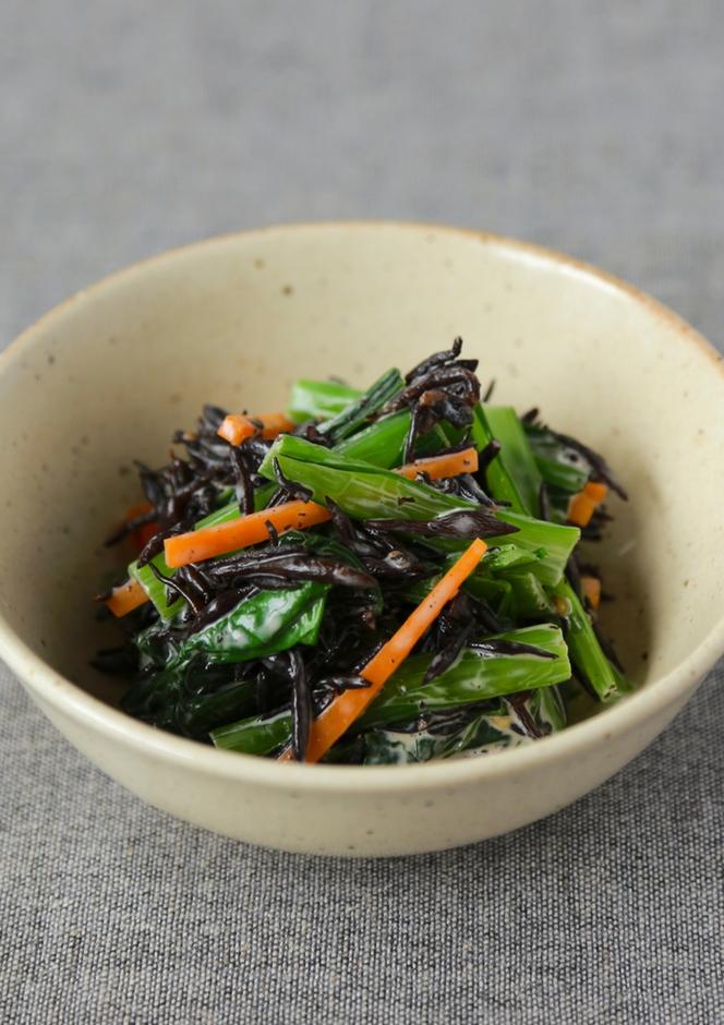 ひじきと小松菜の和風マヨサラダ