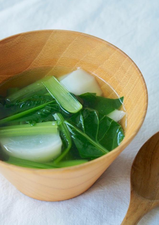 カブと小松菜の中華スープ