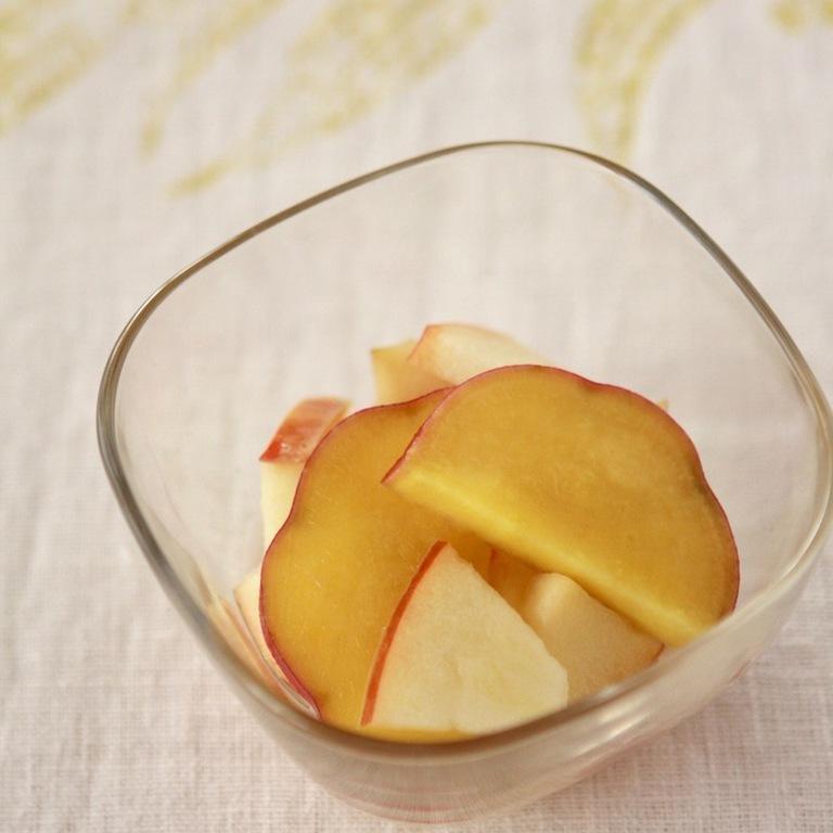 さつまいもとリンゴのハチミツ煮