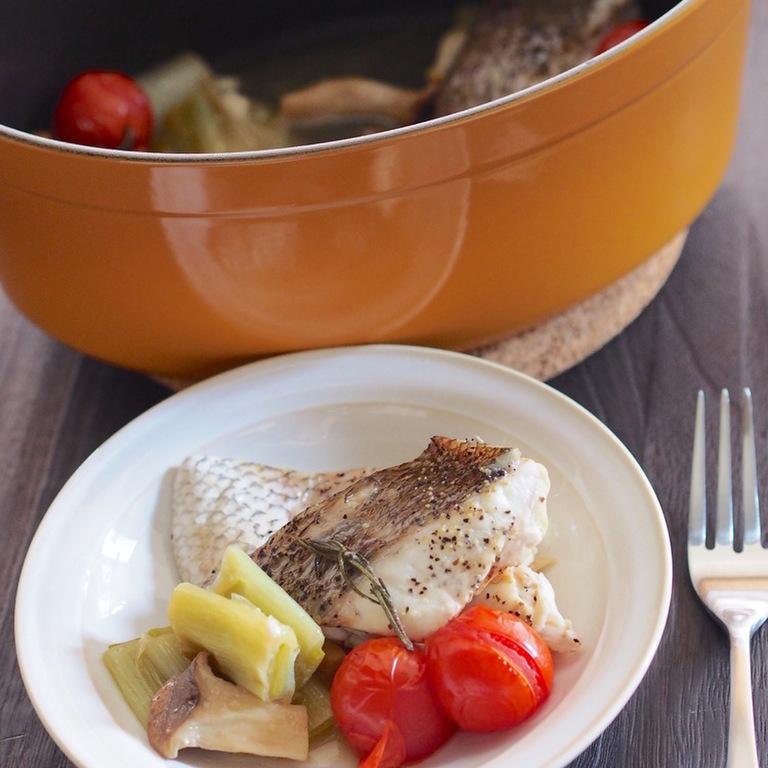 白身魚のブレゼ