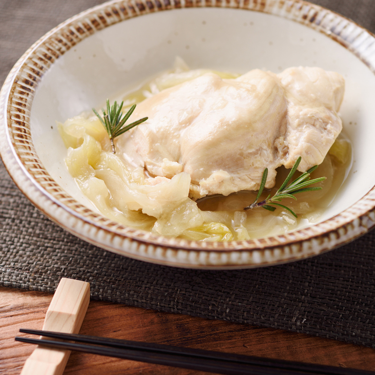 鶏むね肉と玉ねぎのほっとけ煮