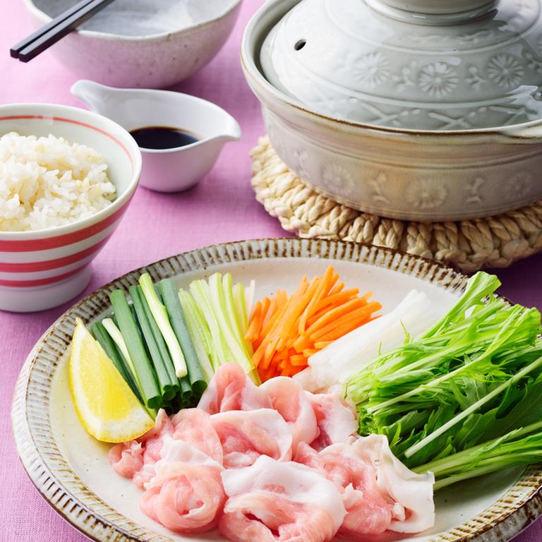 豚しゃぶ野菜鍋 〆はクッパ風