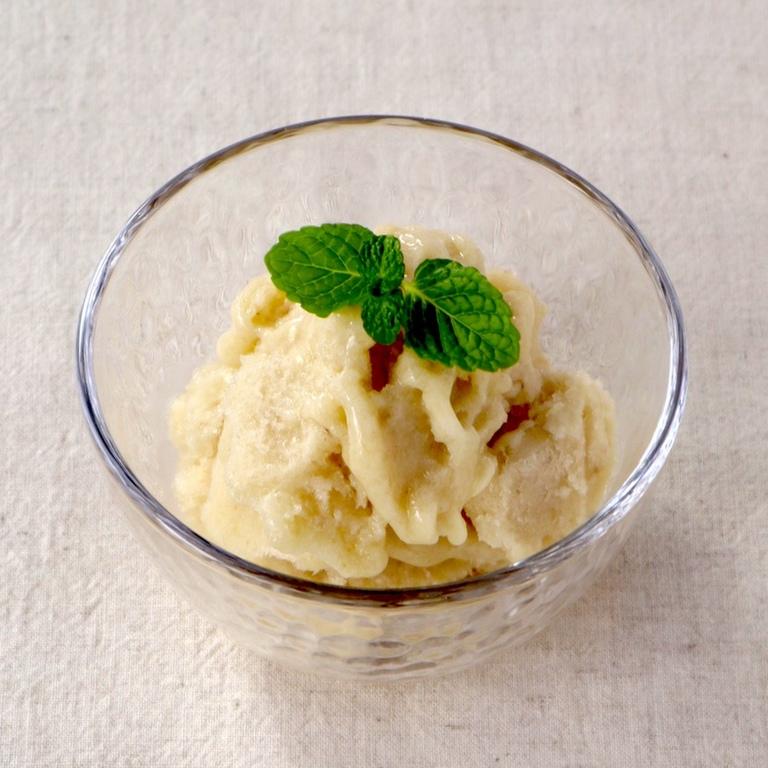 バナナと甘酒のアイスクリーム
