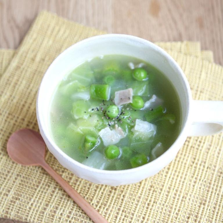 春野菜のグリーンミネストローネ