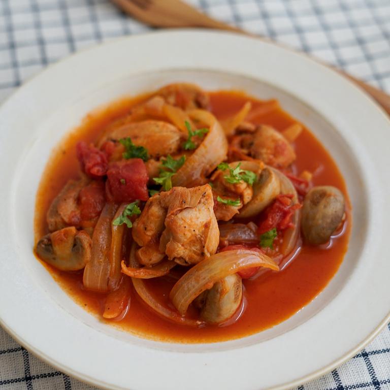 ちょっとイタリアン鶏モモ肉のトマト煮込み