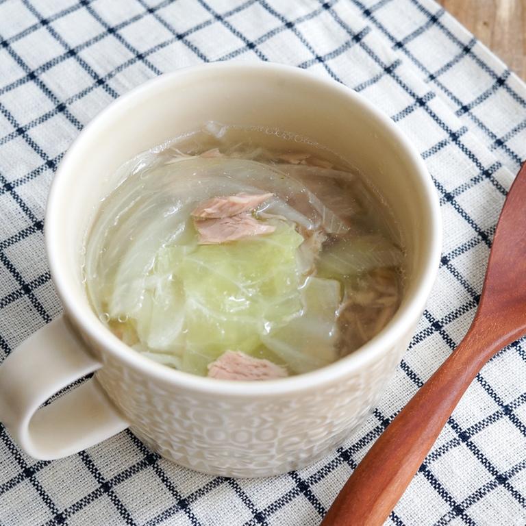 電子レンジでできる 簡単野菜スープ