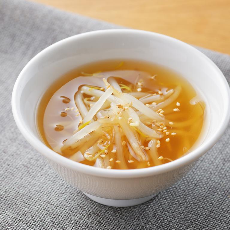 もやしとしょうがの具沢山スープ