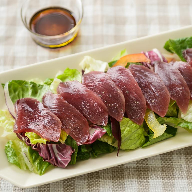 カット野菜で簡単 かつおのカルパッチョ