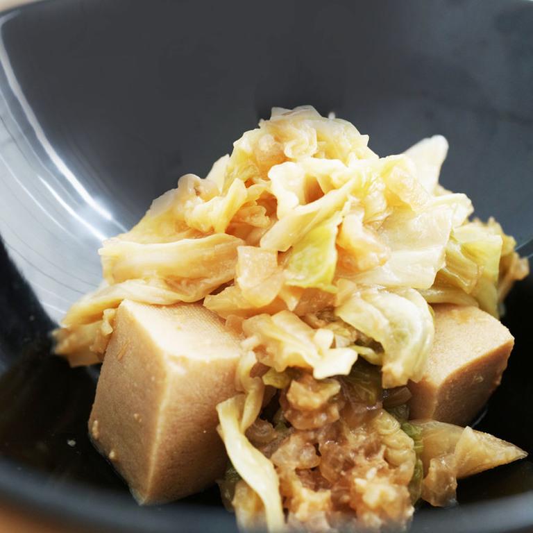 キャベツと高野豆腐の甘味噌炒め