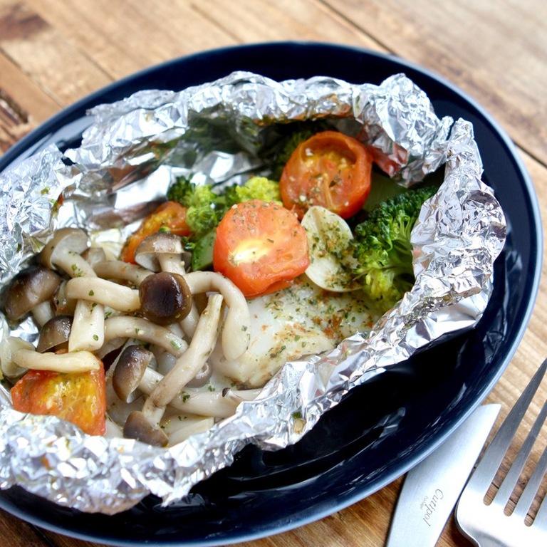 簡単おかず たらと野菜のホイル焼き