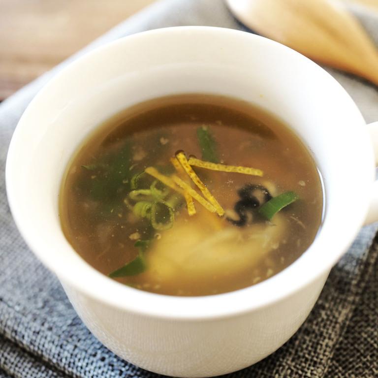 しょうがたっぷり!牡蠣スープ