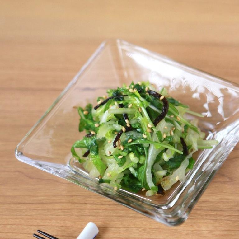 白菜と水菜のゆず胡椒 塩昆布サラダ