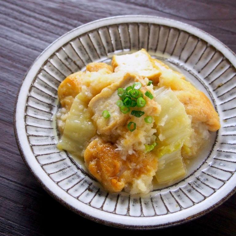 フライパン1つ簡単 鶏肉と白菜のみぞれ煮