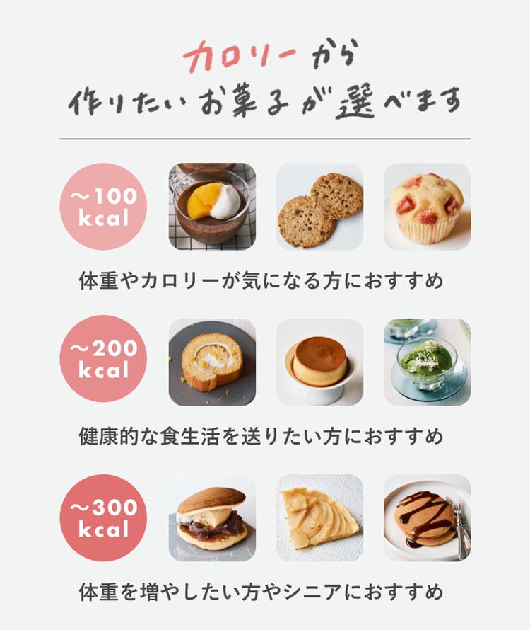 カロリーで選べる。うれしいお菓子