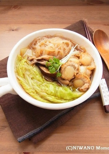 帆立と白菜のオイスターソース煮込み