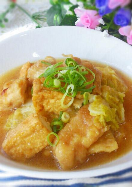 フライパン1つ簡単♡鶏肉と白菜のみぞれ煮