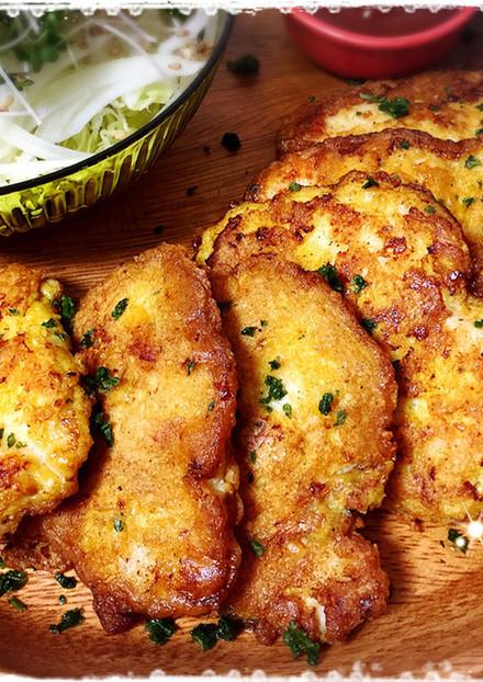 やわらか〜♡鶏胸肉のカレーチーズピカタ