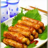 ヘルシー 豆腐の豚肉巻き甘辛煮