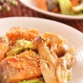 鮭とキャベツのスイチリ味噌炒め