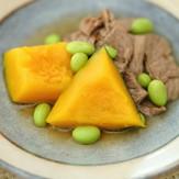 レンジも使用して時短!南瓜と牛肉の炒め煮