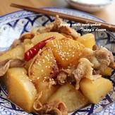 定番 大根と豚肉の甘辛こっくり煮