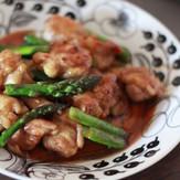 鶏もも肉とアスパラの照り焼き