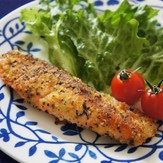 鮭のバジルチーズパン粉焼き