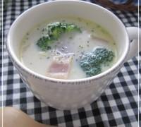 白菜とベーコンのミルクコンソメスープ