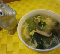 生姜が決め手☆青梗菜と卵のとろみスープ