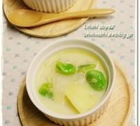春野菜を使った豆乳スープ