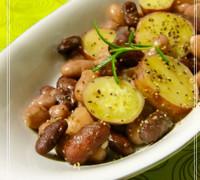 さつま芋とお豆のグラッセ