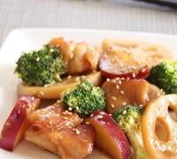 鶏肉と根菜のさっぱり炒め蒸し