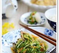 水菜と人参のレンジ煮浸し【作りおき】