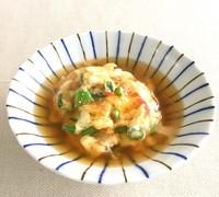 豆腐入り、卵のとろとろあんかけ。