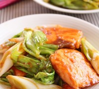 鮭の回鍋肉風(中華風味噌炒め)