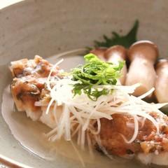 白身魚の梅肉蒸し スチームクッカー使用