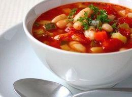 野菜たっぷり 白いんげん豆のトマトスープ