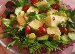 エスニック豆腐サラダ