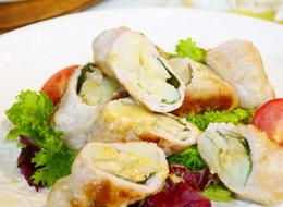 豚肉のエリンギ&ポテト巻き 柚子胡椒ダレ
