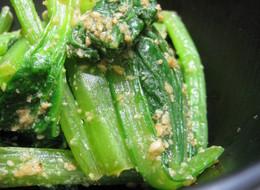 小松菜のわさび醤油和え