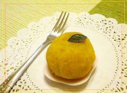 茶巾かぼちゃの和菓子のような塩甘蜜柑
