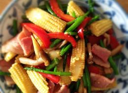 カラフル 簡単野菜にんにくバター醤油炒め