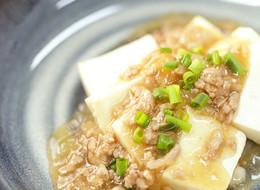豆腐のしっとり鶏そぼろあん