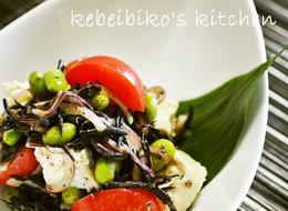 ひじきと豆腐の彩りサラダ