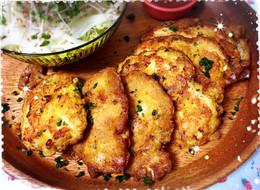 やわらか〜 鶏胸肉のカレーチーズピカタ