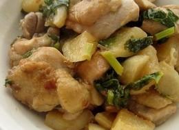 鶏肉と蕪の炒め煮